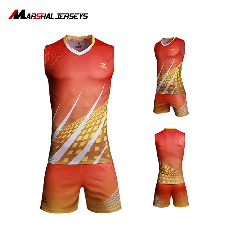 Mens Volleyball Jersey, Professional Volleyball Kits, OEM Service Volleyball Jersey