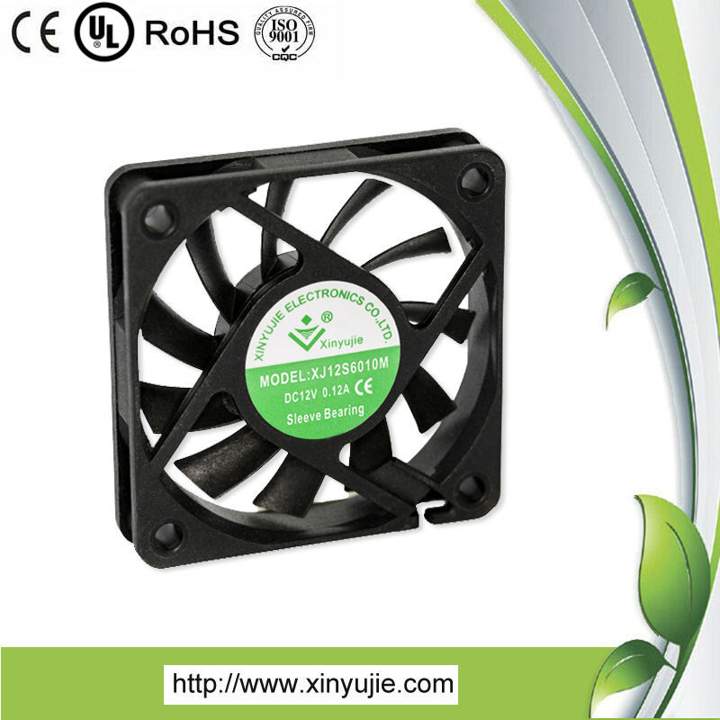 XJ12B6010M Shenzhen dc fan for pamp waterproof dc fan 60mm 5v