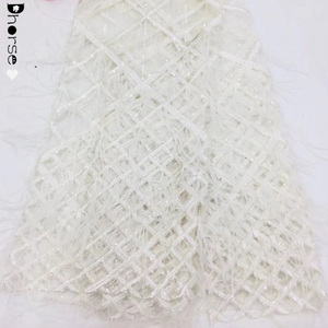 Wholesale fashion quality material for beaded for wedding dresses round cotton doilies lace fabric