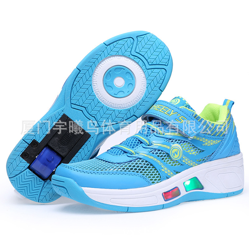7d266850b66c91 Buy Light Shoes Wheels Boys Children Roller Shoes Girls Net LED Sneakers  New Hollow Summer Light Shoes Wheels Kids 2015 Hot in Cheap Price on  m.alibaba.com