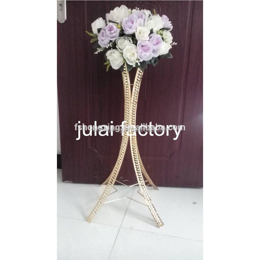 Decorative aisle gold flower stand / disply wedding table centerpiece decoration