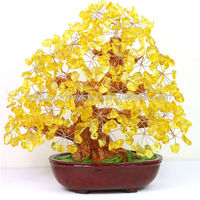 lucky citrine crystal tree for decoration