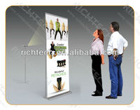HOT! 2018 roll up horizontal banner stand, roller up banner, electric roll up banner at low price