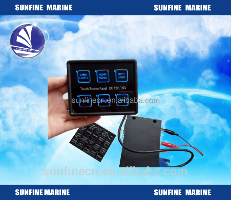 Switch Panel LED 12 volt 8 Gang Membrane Panel Touch Control IP 66 Rating