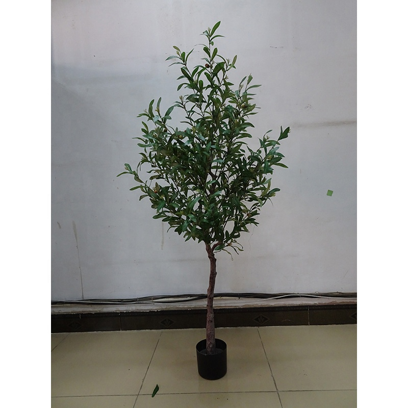 Fare 180 centimetri di altezza artificiale verde oliva pianta bonsai albero, decorativo vaso bonsai albero di oliva artificiale per la decorazione domestica