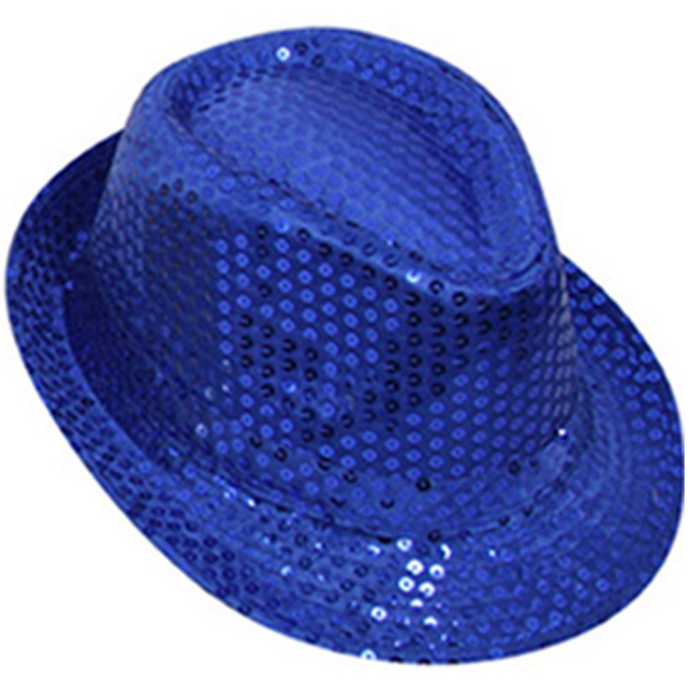 Bright Sequin Party Hat, Great for Dress ups, Six Colours, One Size Fits Most Blue