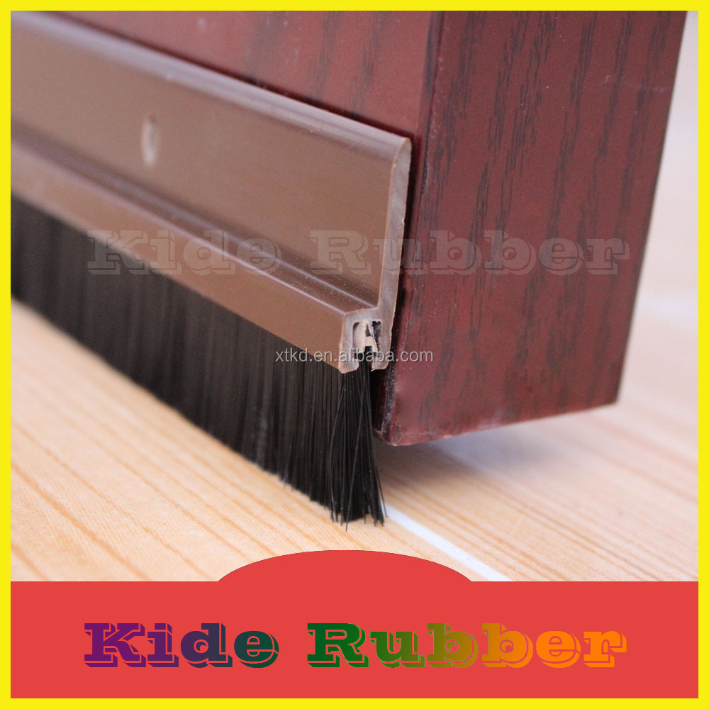 Pvc garage door bottom seal strip with brush buy door bottom pvc garage door bottom seal strip with brush rubansaba