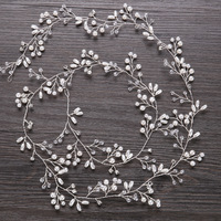 Top selling 1 meter length handmade pearls head band for bridal hair accessories in stock