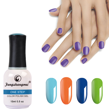 Gel polish no base no top shiy 3 in 1 nail polish msds gel nails supplies salon 15ml gel polish one step