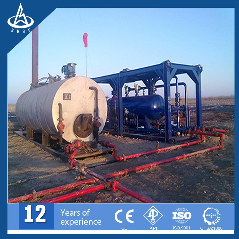 Trailer Mounted Gas Liquid Three Phase Test Separator with heater
