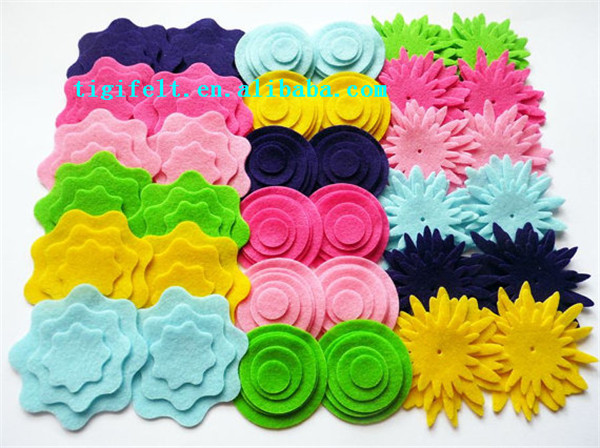 Craft Cut out Felt Flower Shapes