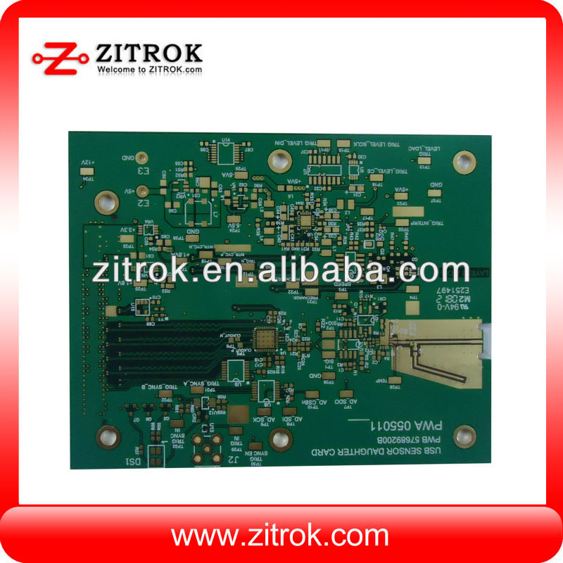 Digital led display MP3 module pcb with assembly