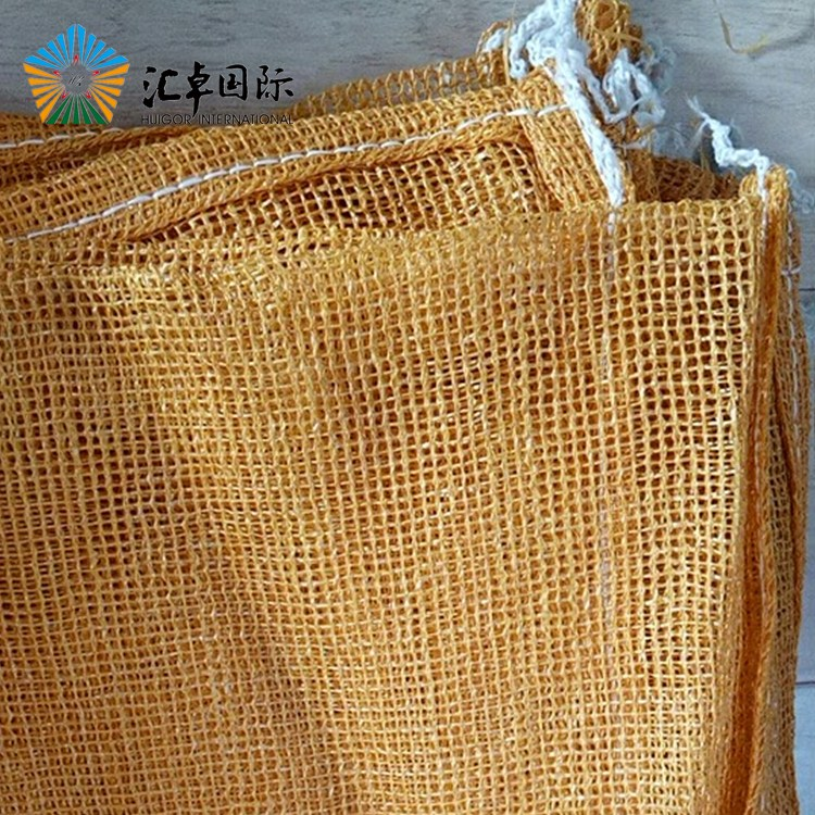 Leno mesh PP plastic bags with UV protection for packing vegetable firewood