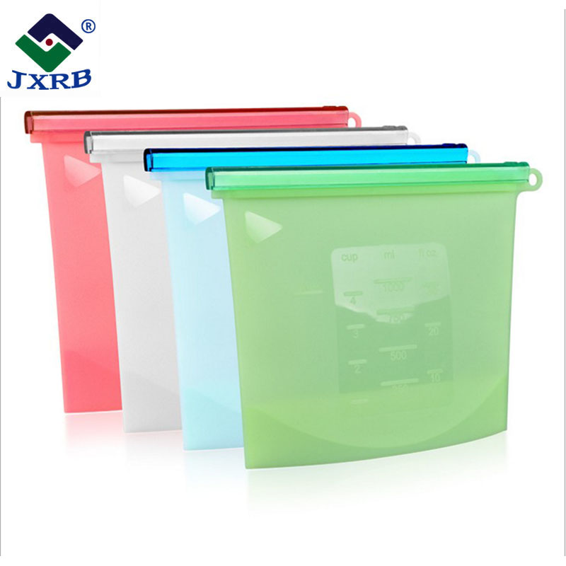 Food grade reusable ziplock packaging food storage silicone fresh <strong>bags</strong>