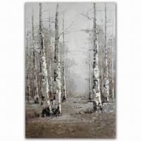 Still-Life landscape birch tree picture frame manufacturer oil painting