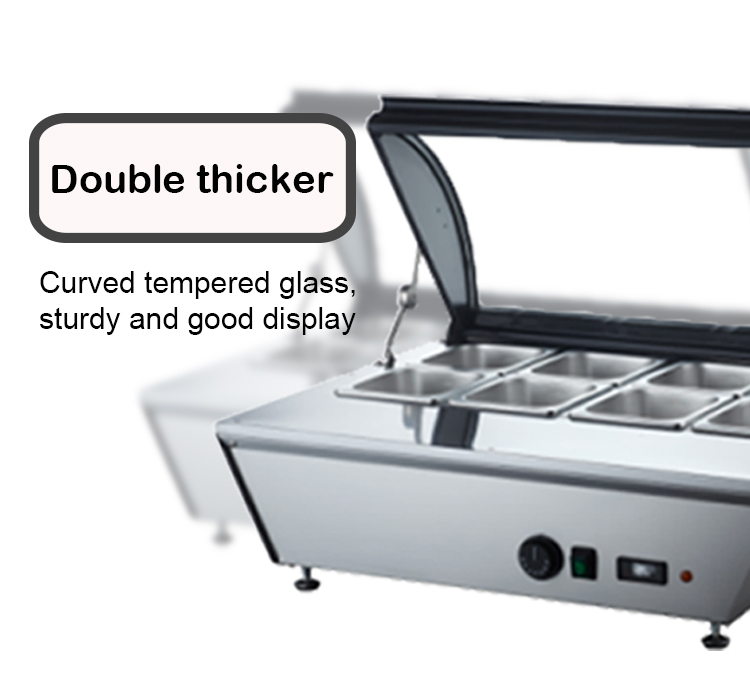 67L Countertop Food Case Cooler Fridge Food Display Showcase Refrigerator
