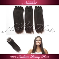 5A grade lace closure and hair weft with free shipping by our aliexpress