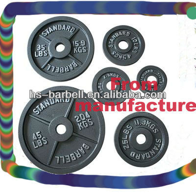 Regular Barbell Placa de Pintura Cozido