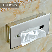 Hot Sale Bathroom accessories 304 stainless steel wall mounted tissue box holder toilet roll holder