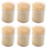 Dental Care Bamboo Round Toothpicks 400 pcs pack in container