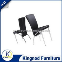 Austria metal dining room chairs/luxury high back pu leather dining chairs/white/black tianjin furniture