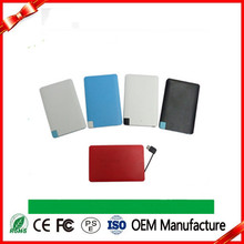 hot new products for 2016 Ultra Slim credit card Power Bank 2500mAh ultra slim power bank,Portable Power Bank,mobile charger