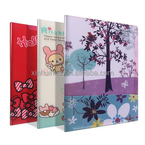 Promotional PET/PP/PVC L Shape File holder manufacturers with colorful printed for document