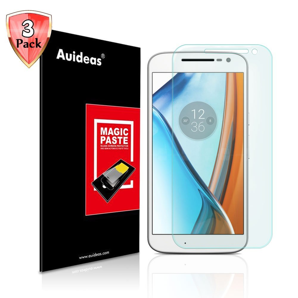 Motorola Moto G 4th Gen Screen Protector,Auideas Motorola Moto G 4th Gen Tempered Glass Screen Protector for Motorola Moto G 4th Gen [3-Pack]