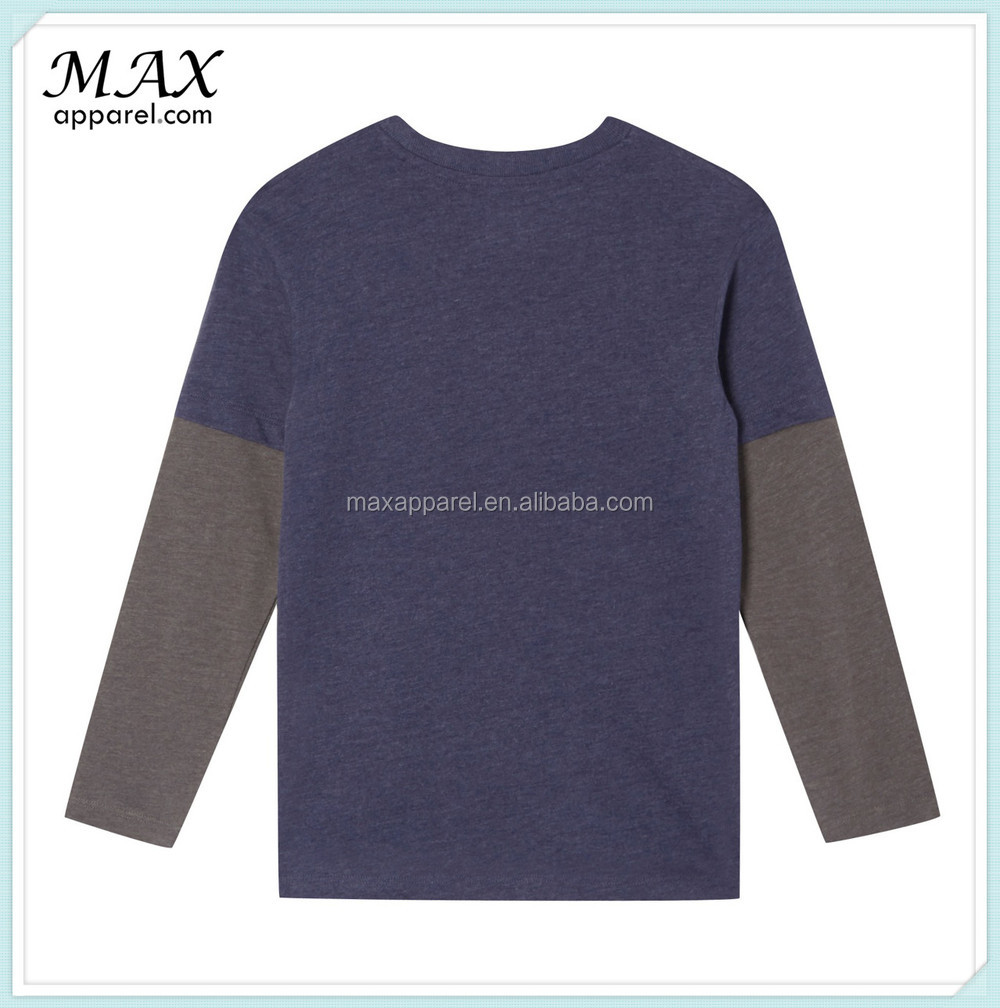 Design t shirt long sleeve - Boy S Navy Pirate Meerkat Printed Top Kids Long Sleeve Two Layer Sleeve Design T Shirt