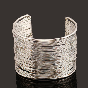 #7029 High quality one size metal bangle in gold and silver two colors