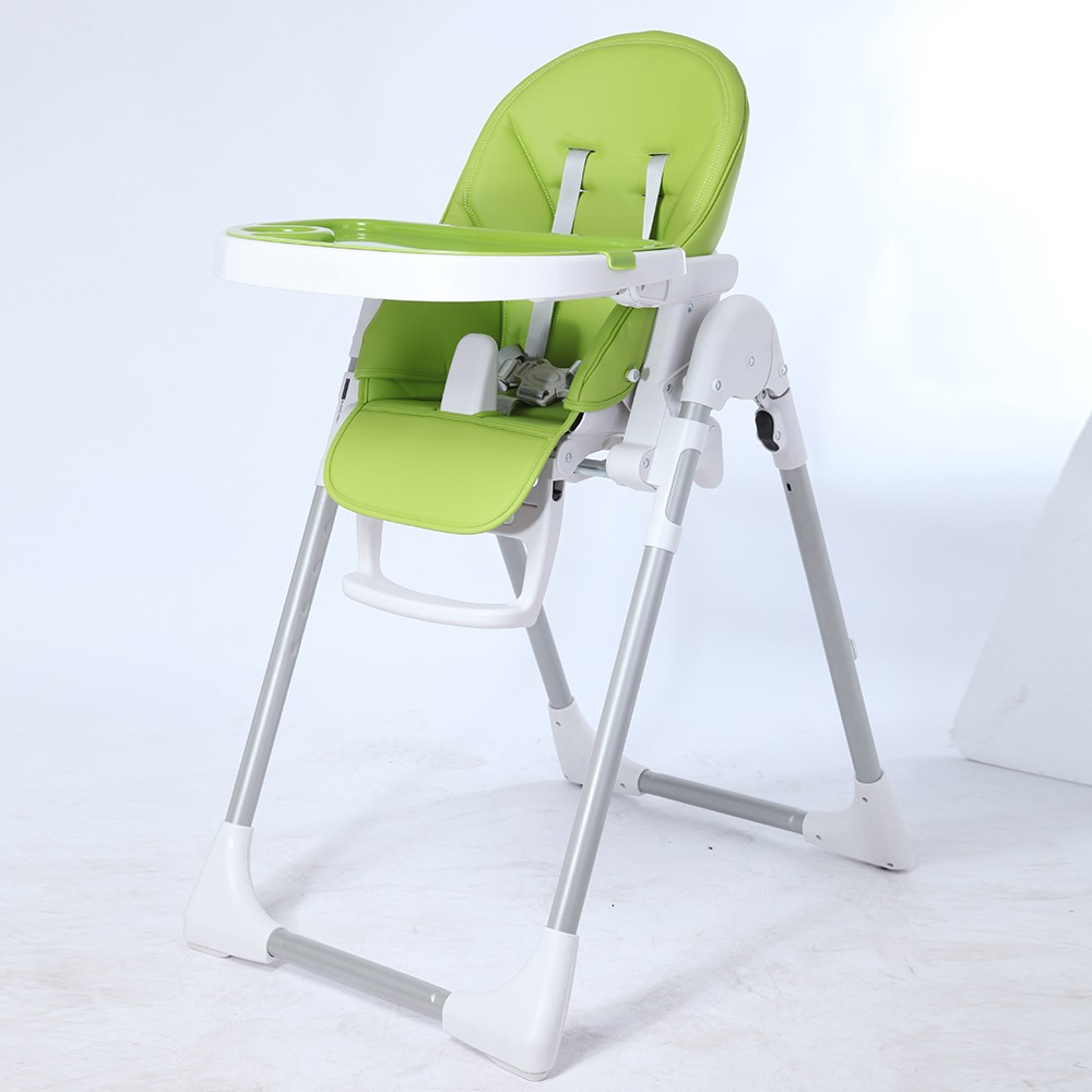 Korean Standard Safe High Chair Soft Padded Seat Orange Plastic Baby