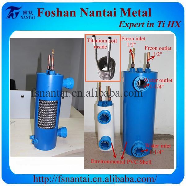 Refrigerant 410a Titanium Heat Exchanger Freon Water Buy