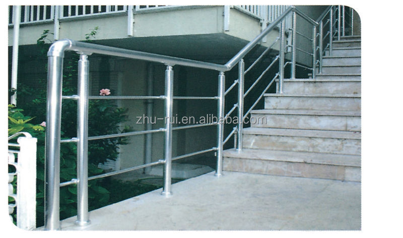 Indoor Aluminum Anodized Silver Stair Railing Parts/balcony Baluster/ Handrail Accessories