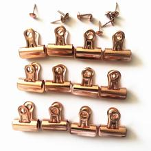 Rose Goud Metalen Push Pin met Clip voor <span class=keywords><strong>Kurk</strong></span> Boards