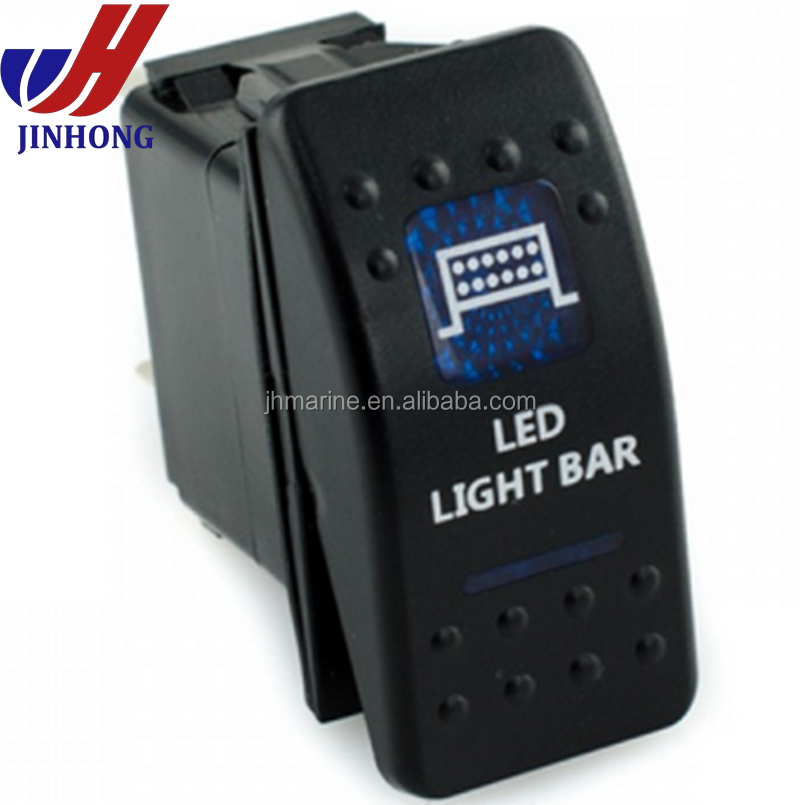 12 Volt 5pin Carling Type Rocker Switch Led Light Bar Rocker Switch