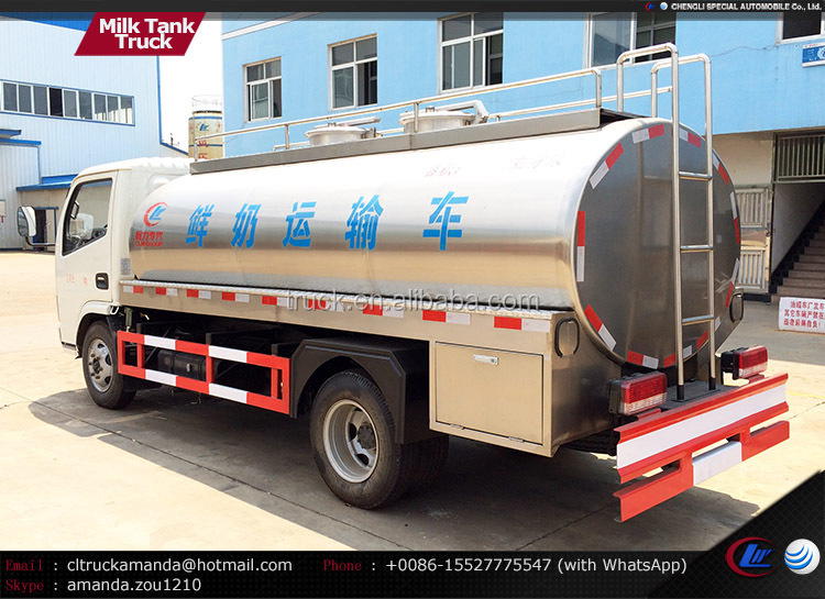 Dongfeng 4*2 95hp Small Truck Milk Tank,Stainless Steel Raw Fresh ...