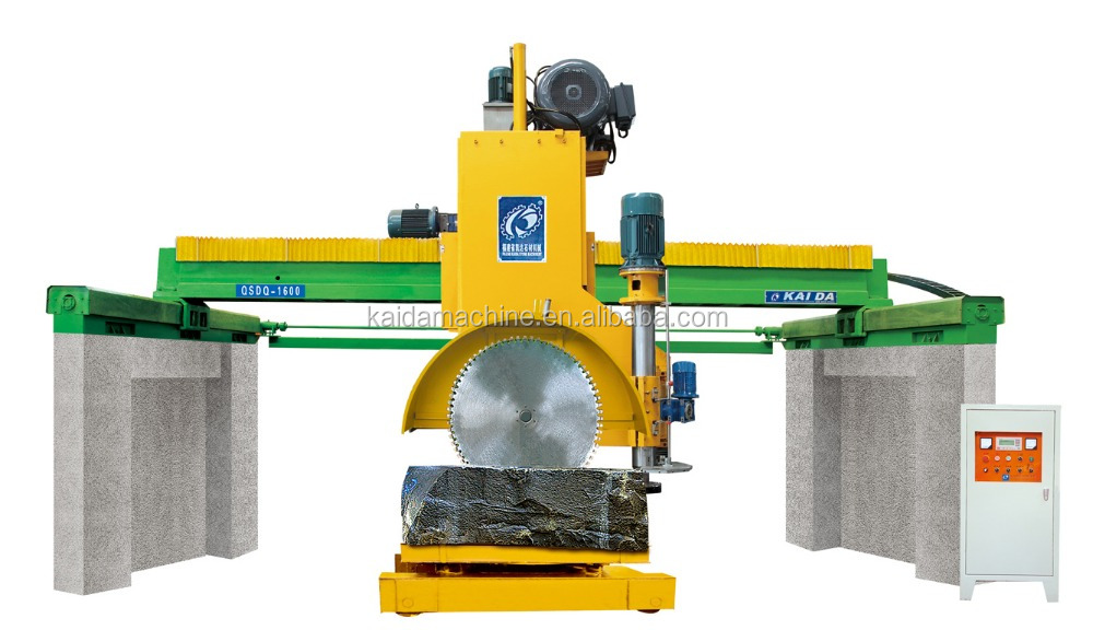 Granite block stone cutting machine / stone cutter/double directions blade cuttine machine
