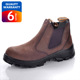 Breathable nubuck leather no lace safety boots,slip on safety boots