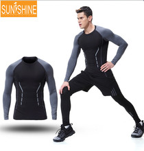 Supplex Fitness Wear Elastic Compress Sports Clothing Men Tshirt For Your Own Design