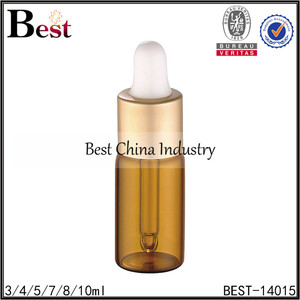 3ml 4ml 5ml 7ml 8ml 10ml cosmetic glass tube bottle vial with dropper logo printing for essential oil