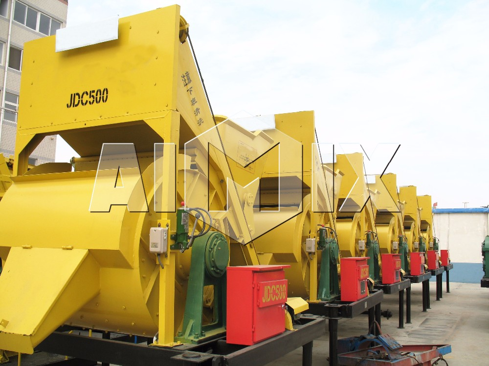 Manufacture supply mini concrete mixers JDC500 on sale