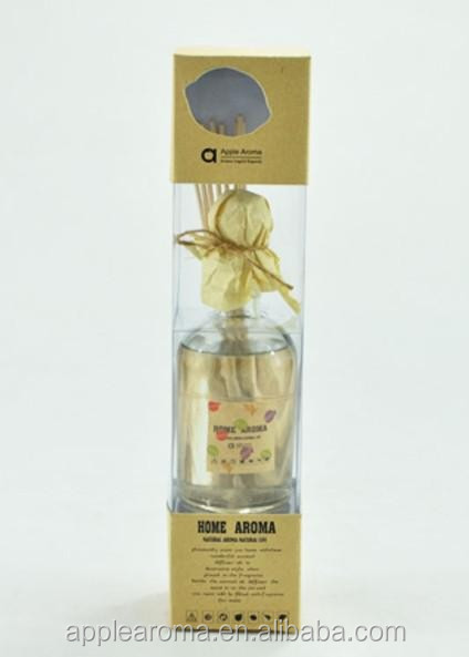 Fashion Home Aroma 200ml reed diffuser in glass bottle with wooden collar
