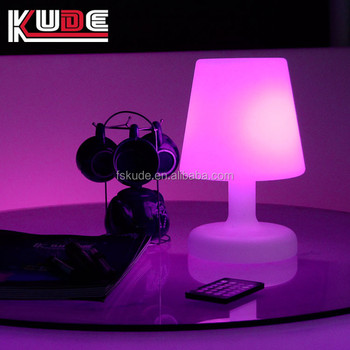 2017 Custom Made Led Plastic Remote Control Table Lamps With Logo