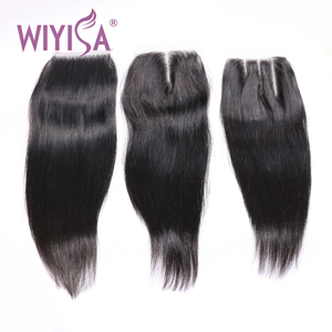 Wholesale hair salon products edge control hair styling machine weft india 4*4 lace closure natural hair
