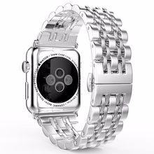 Ремешок из нержавеющей стали для Apple Watch, версии 5 4 ремешок 42 мм браслет для наручных часов iwatch серии 5 1/2/3 42 мм, ремешок для наручных часов iwatch ...(Китай)