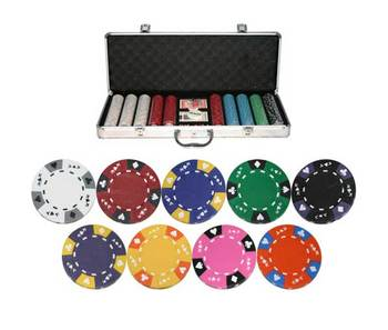 500 Ace King 14g Clay Casino Poker Chip Set w/ Aluminum Case