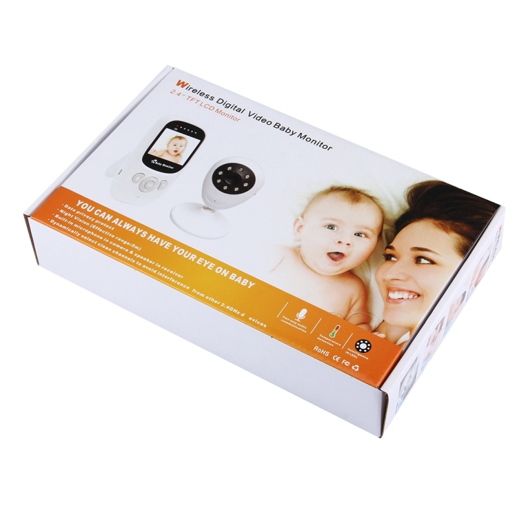 Wireless Surveillance Camera Baby Monitor with 8-IR LED Night Vision 2.4 inch LCD 2.4GHz