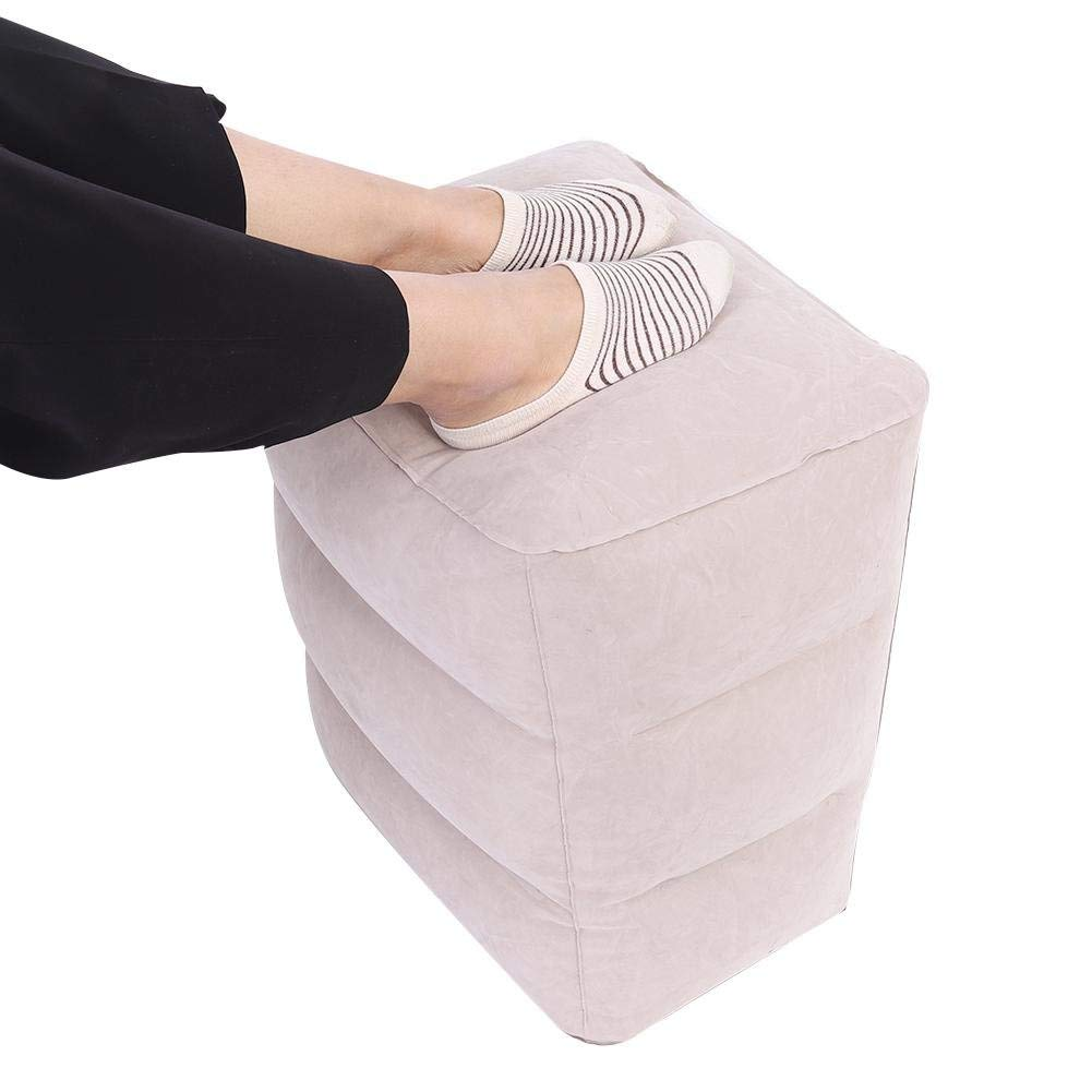 Zerone Foot Rest Pillow,Travel Air Inflatable Footrest Travel Air Inflation Pillow Inflatable Foot Rest Pillow on Airplanes, Cars, Buses, Trains, Office