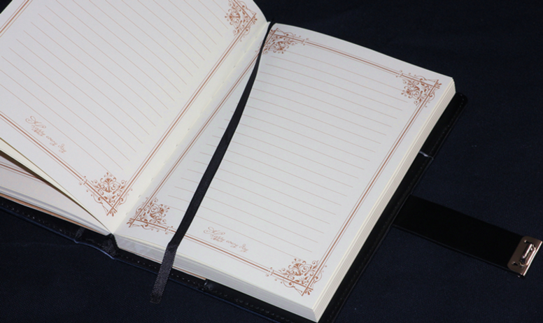 Best sleeping hand writting pu notebook locking diary