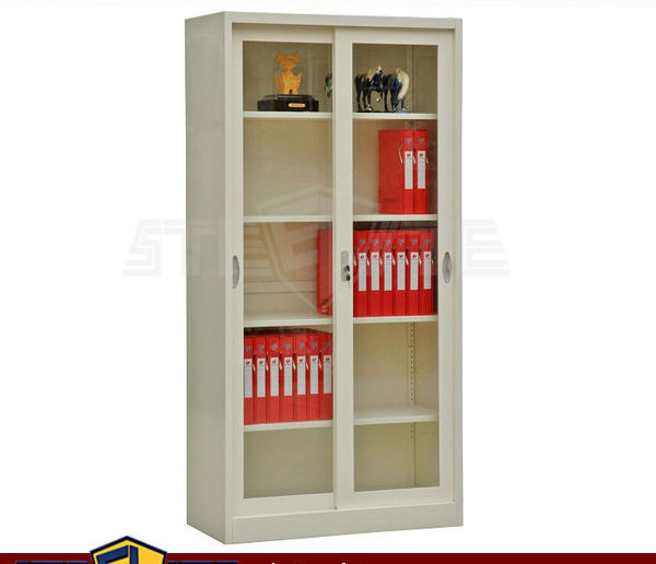 Modern Metal And Glass Bookshelf/steel Bookshelf With ...